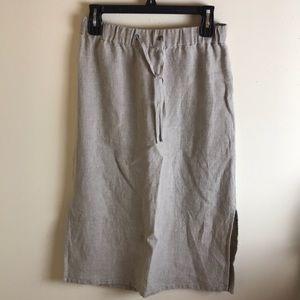 Eileen Fisher Midi Skirt Organic Linen Straight